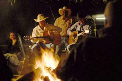 Campfire performance at the Swinging Arm Bar located in the El Questro townsite Tourism Western Australia