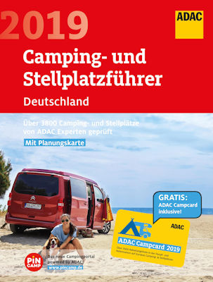 adac camping und stellplatzf hrer 2019 f r europa in vier. Black Bedroom Furniture Sets. Home Design Ideas
